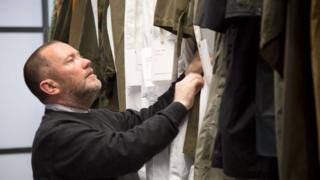 Andrew Groves views garment archive