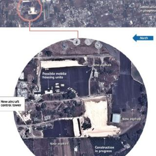 Satellite image allegedly showing construction at Latakia's airport
