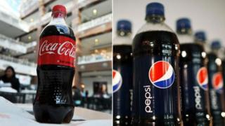 Vinywaji vya Coca-Cola na Pepsi
