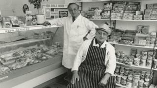 Arnold and Gabriel Krotosky of the Krotosky Butcher Shop
