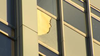 Glass fell from a window in Bedford house onto the street below