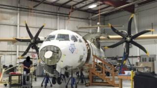 A Drug Enforcement Agency (DEA) ATR 42-500 airplane - March 2016
