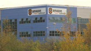 Amazon's depot in Rugeley