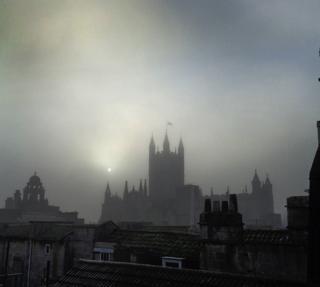 A foggy sunrise in Bath
