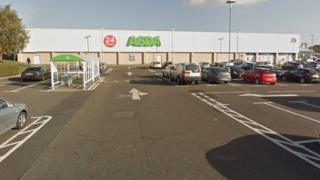 Asda car park in Carberry Place