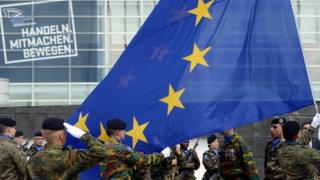 флаг ЕС, солдаты Франции