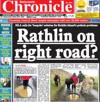 Ballycastle Chronicle front page