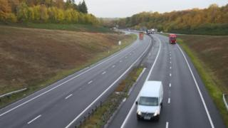 The A34 bypass at Newbury