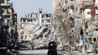 Mji wa Raqqa umeharibiwa sana