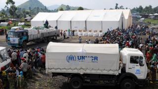 un camps de réfugiés en RDC