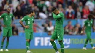Saudi Arabia thua Nga dễ dàng 5-0