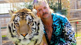 Joe Exotic and a tiger