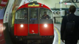 A Piccadilly line train