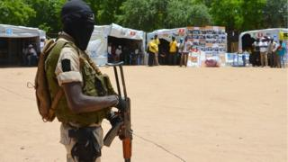 Niger soldier for IPD camp