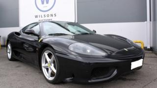 A black Ferrari