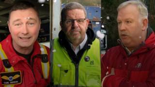 Carl Hudson, Terry Evans a Huw Birrell