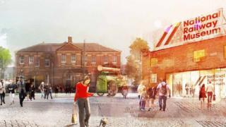 Artists impression of York Central development