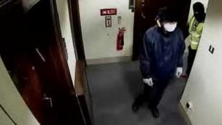 Footage of the heist at Hatton Garden Safe Deposit, believed to show Michael Seed