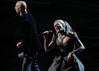 Artist Common and Andra Day