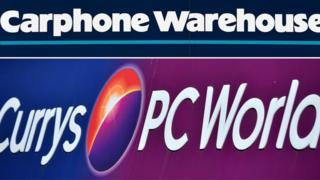 A Carphone Warehouse Currys PC World logo