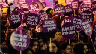 Türkiye'de gösteri yapan kadınlar