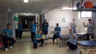 in_pictures Staff at NHS Fife posted pictures with messages thanking the public for its support