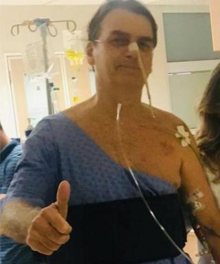 Brazil presidency image shows President Jair Bolsonaro at Albert Einstein Hospital in Sao Paulo, Brazil, February 7, 2019
