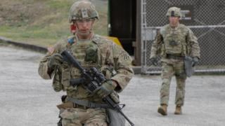 US troops at Camp Casey in April 2018