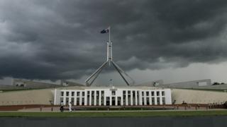 Australian parliament in Canberra