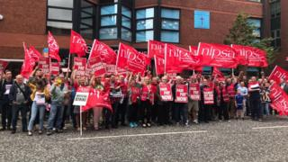 Nipsa members on strike