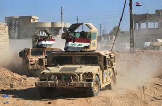 Iraklı güçler Telafer'de