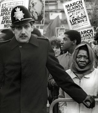 Standing Up Against Apartheid, Trafalgar Square, London, 1985