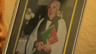 A photo of Reverend John Emrys Jones at his ordination in 1996