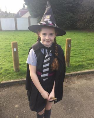 This is Amber from Kent as The Worst Witch's Mildred Hubble