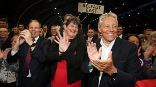 DUP celebrating election result