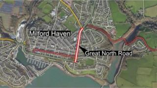 A map of Milford Haven