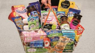Basket depicting Premier Foods' range