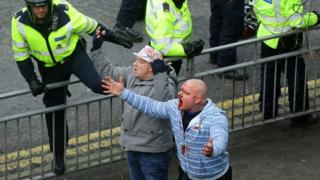 Injured man in Dover protests