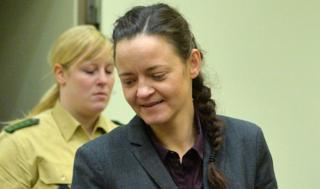 Beate Zschaepe in court