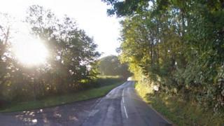 B4314 at junction for Llan Mill