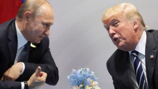 الرئيس الأمريكي دونال ترامب ونظيره الروسي فلاديمير بوتين
