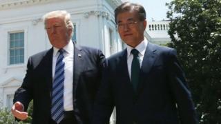นายทรัมป์พบหารือกับผู้นำเกาหลีใต้ที่ทำเนียบประธานาธิบดีสหรัฐฯ