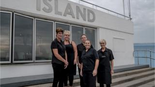 Staff of the Labworth cafe. Linda, Vicky, Kirsty, Carly and Gill.