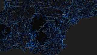 Devon - cycling routes (by Strava users 2015)