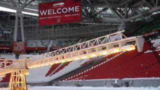 Футбольный стадион в Казани (3 марта 2018 г.)