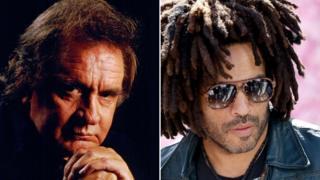 Johnny Cash and Lenny Kravitz