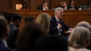 ゴーサッチ氏は先月、上院司法委員会で3日間の公聴会に臨んだ