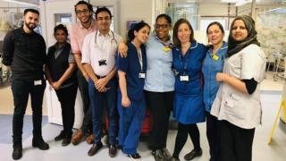 Wycombe Hospital cardiology unit team