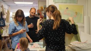 Families visiting a SET Open Studios event day in Dalston
