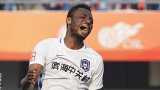 John Mikel Obi di time e dey play for Chinese side Tianjin Teda
